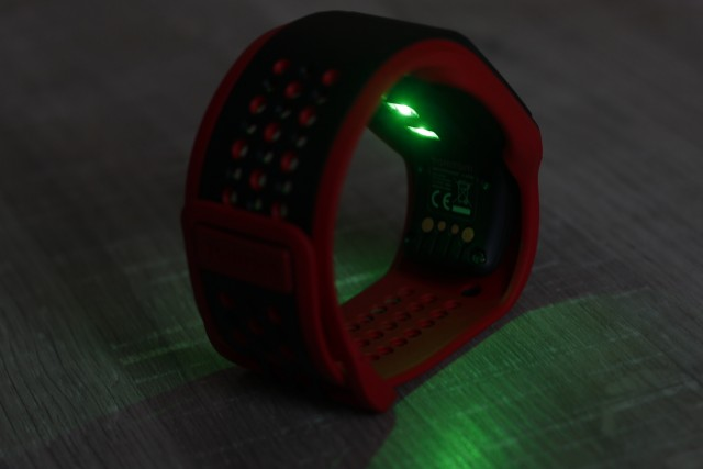 The heart rate LED looks really cool in the darker hours of the day.