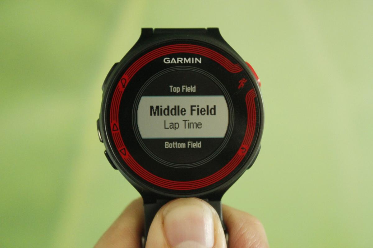 Garmin Forerunner 220 datascreen