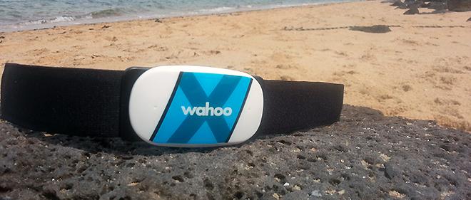 Wahoo Tickr X on the beach