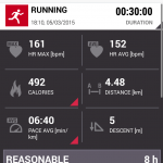 The run metrics on the phone, click for the full image.