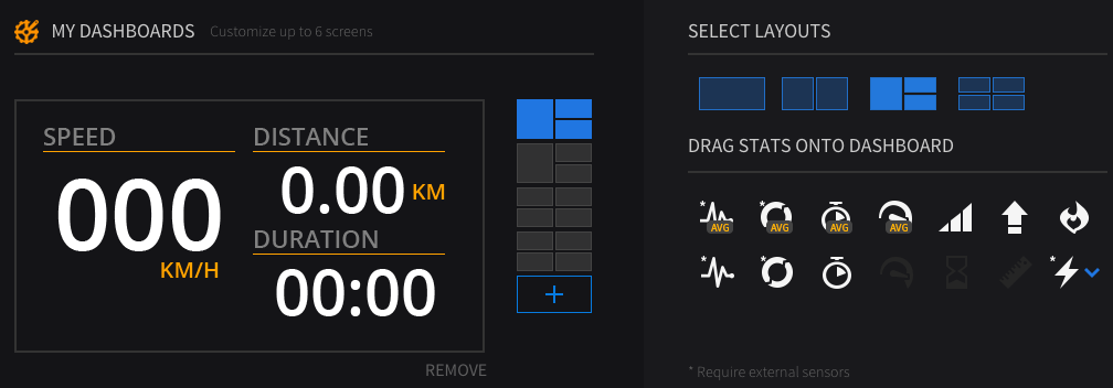 Engage Dashboard Interface