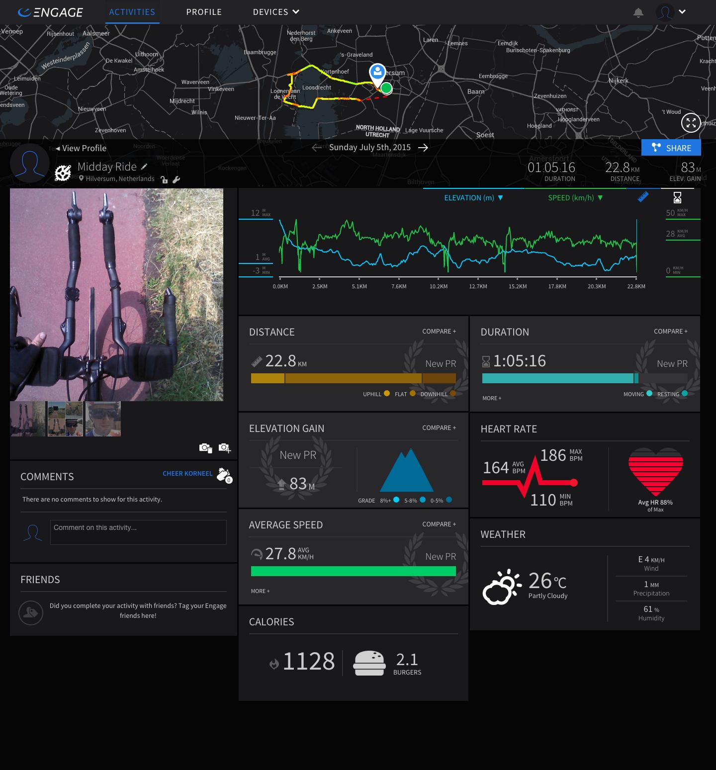 Engage Ride Data Screenshot
