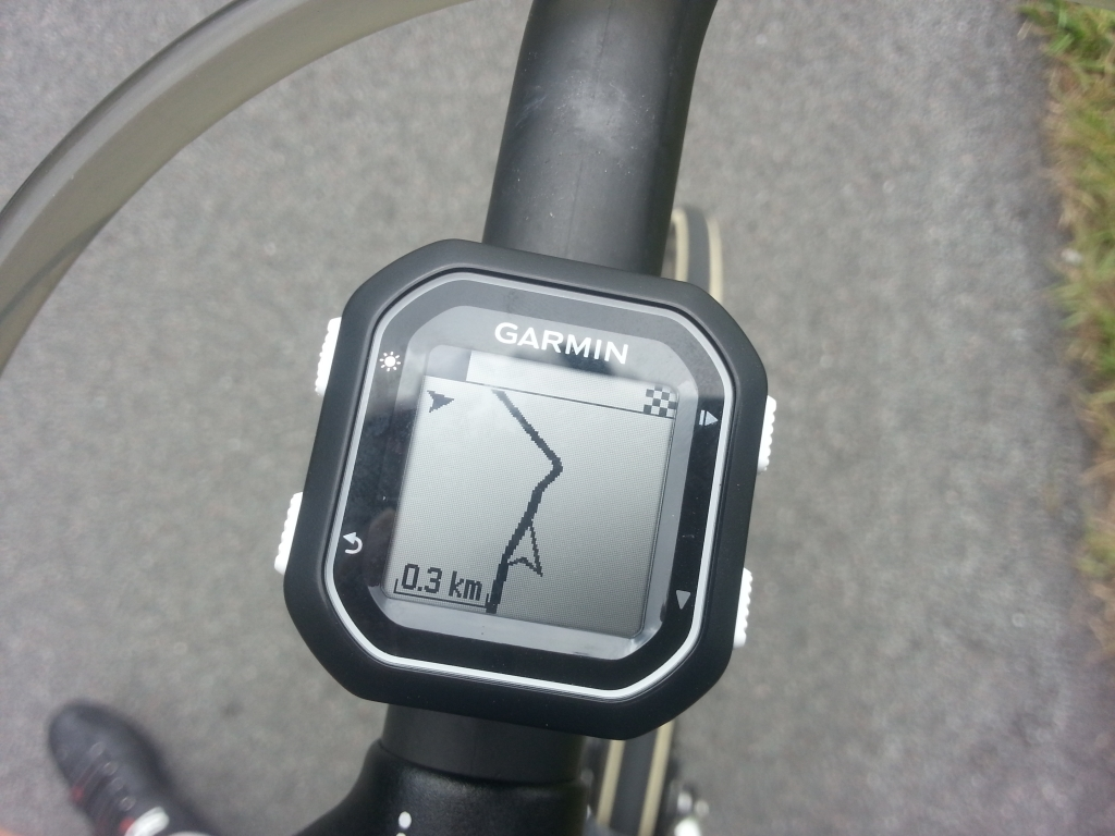 Course navigation on the Garmin Edge 25