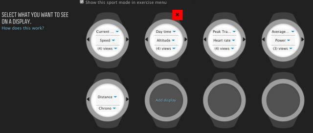 Display Screens of Ambit 3 online