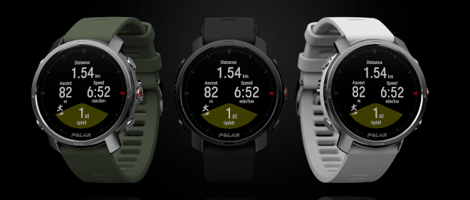 All three Polar Grit X watches