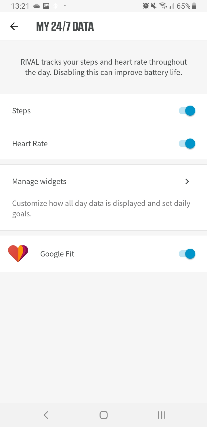 Wahoo RIVAL share HR data with Google