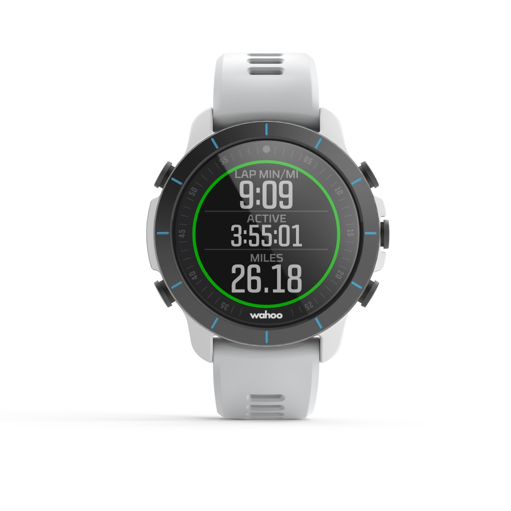 Wahoo ELEMNT RIVAL running workout display