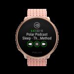 Music controls on the Polar Ignite 2